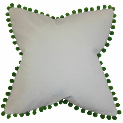Leire Pompom Velvet Throw Pillow Size: 20 x 20