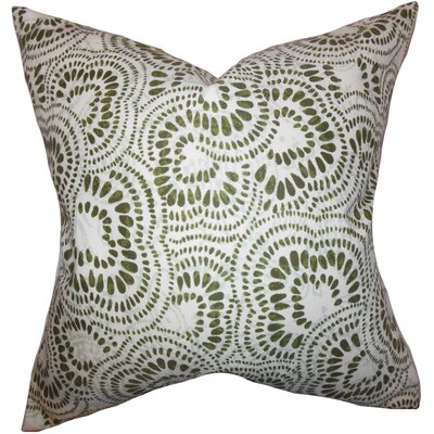 Glynis Floral Cotton Throw Pillow Color: Olive Green, Size: 18 x 18