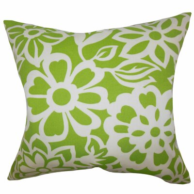Ozara Floral Throw Pillow Color: Green, Size: 18 x 18