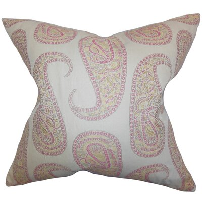 Amahl Paisley Throw Pillow Cover Color: Pink