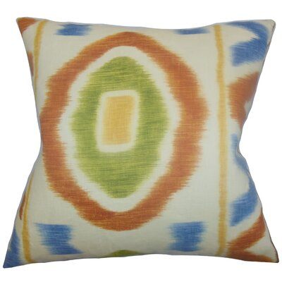 Rivka Geometric Cotton Throw Pillow Color: Adobe, Size: 18 x 18