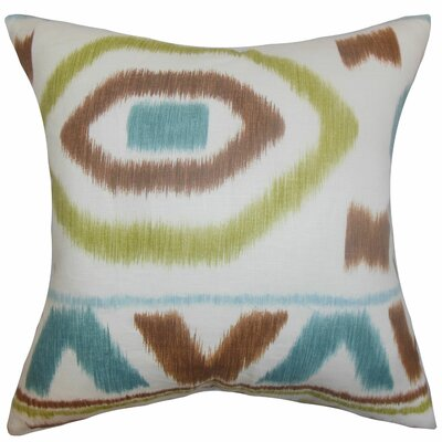 Rivka Geometric Cotton Throw Pillow Color: Capri, Size: 18 x 18