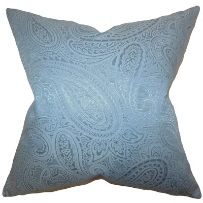 Cashel Paisley Throw Pillow Color: Blue, Size: 18 x 18