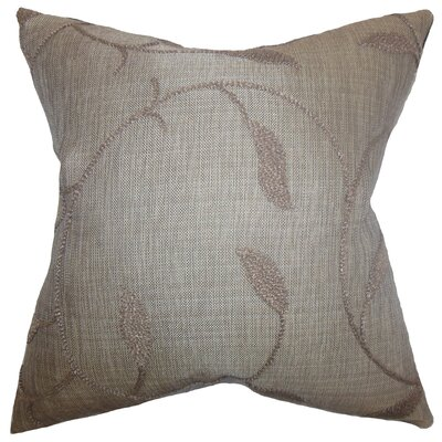 Delyth Floral Throw Pillow Color: Java, Size: 18 x 18