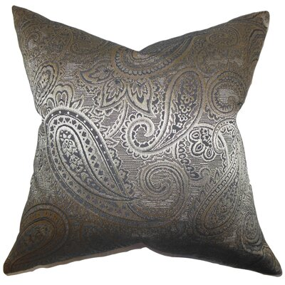 Cashel Paisley Throw Pillow Color: Gray, Size: 22 x 22