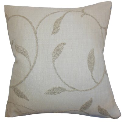 Delyth Floral Throw Pillow Color: Linen, Size: 24 x 24