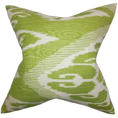 Delano Ikat Bedding Sham Size: Euro, Color: Green