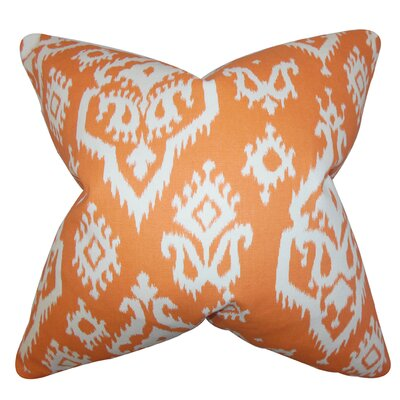 Baraka Ikat Throw Pillow Color: Apache Orange, Size: 20 x 20