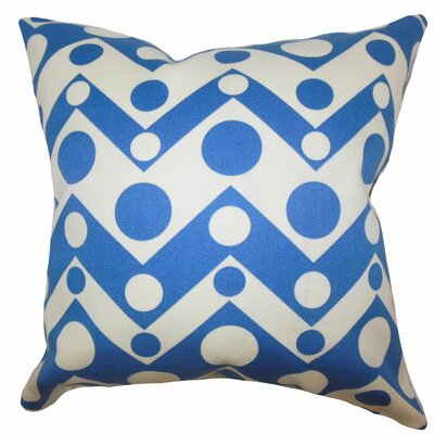 Quenby Geometric Bedding Sham Size: Euro, Color: Blue