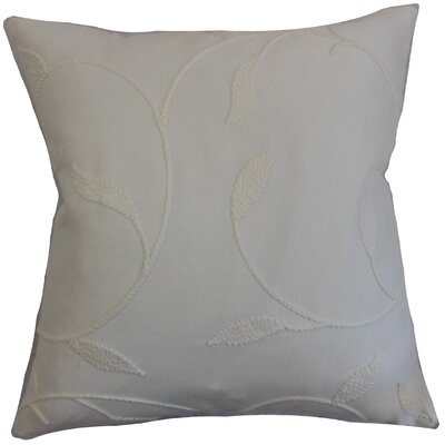 Delyth Floral Throw Pillow Color: Pearl, Size: 20 x 20