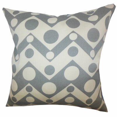 Quenby Geometric Throw Pillow Color: Grey, Size: 24 x 24