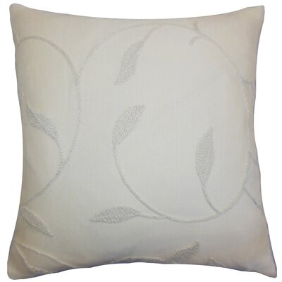 Delyth Floral Throw Pillow Color: Vanilla, Size: 18 x 18