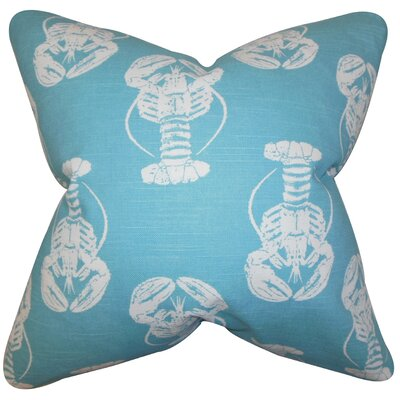 Madelynn Coastal Cotton Throw Pillow Color: Blue, Size: 22 x 22