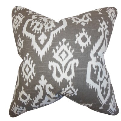 Baraka Ikat Throw Pillow Color: Spirit Brown, Size: 20 x 20