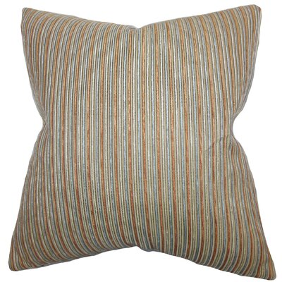 Elke Stripes Throw Pillow Color: Brown, Size: 18 x 18