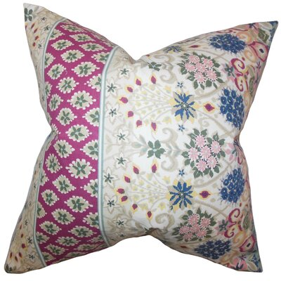Kairi Floral Cotton Throw Pillow Color: Multi, Size: 24 x 24