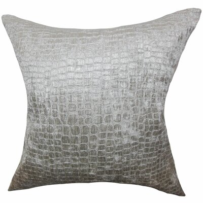 Jensine Throw Pillow Color: Silver, Size: 18 H x 18 W