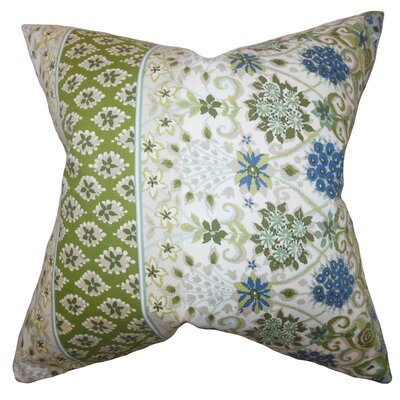 Kairi Floral Cotton Throw Pillow Color: Cactus, Size: 24 x 24