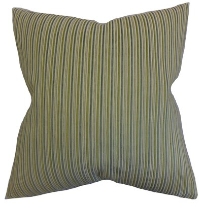 Elke Stripes Throw Pillow Color: Green, Size: 18 x 18