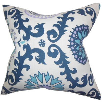 Brindalla Geometric Cotton Throw Pillow Color: Blue, Size: 18 x 18