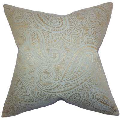Cashel Paisley Throw Pillow Color: Seaglass Gold, Size: 22 x 22