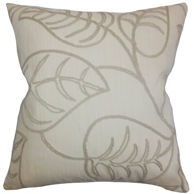 Fabrizia Floral Throw Pillow Color: Linen, Size: 24 x 24