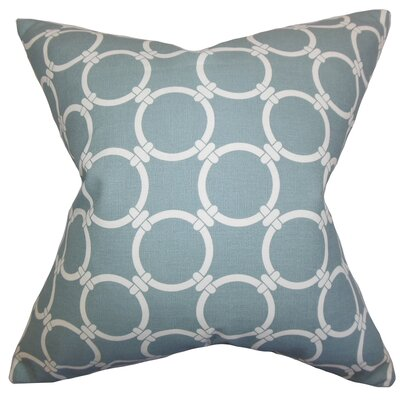 Bechet Geometric Throw Pillow Color: Saffron Gray, Size: 18 x 18