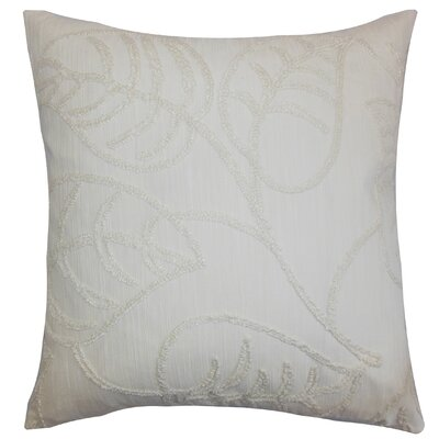 Fabrizia Floral Throw Pillow Color: Pearl, Size: 24 x 24