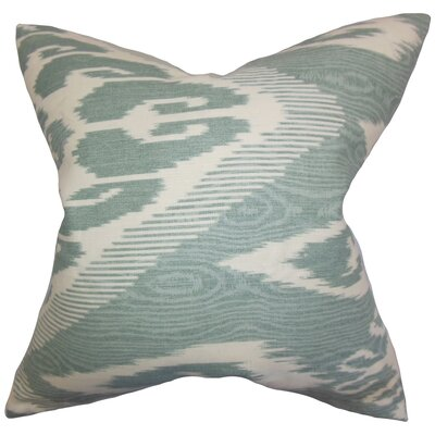 Fernande Ikat Linen Throw Pillow Color: Artemesia, Size: 22 x 22