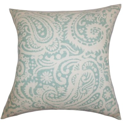 Nellary Paisley Bedding Sham Size: Queen, Color: Aqua