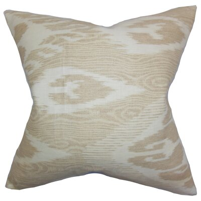 Delano Ikat Linen Throw Pillow Color: Sandstone, Size: 24 x 24