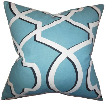 Curan Geometric Cotton Throw Pillow Color: Blue, Size: 18 x 18