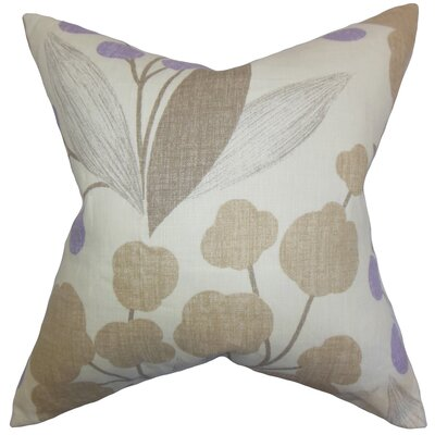 Geneen Floral Linen Throw Pillow Color: Wisteria, Size: 24 x 24
