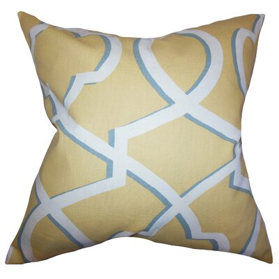 Curan Geometric Cotton Throw Pillow Color: Yellow, Size: 22 x 22