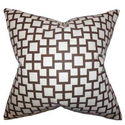 Janka Geometric Bedding Sham Color: Amber, Size: King