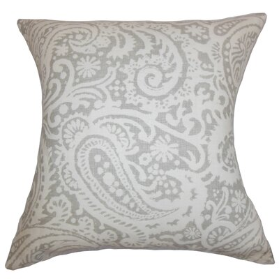 Nellary Paisley Bedding Sham Size: Queen, Color: Silver