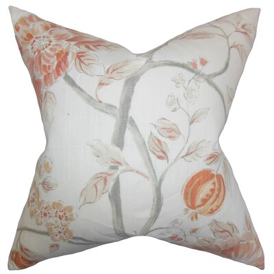Ivria Floral Linen Throw Pillow Color: Bloom, Size: 24 x 24
