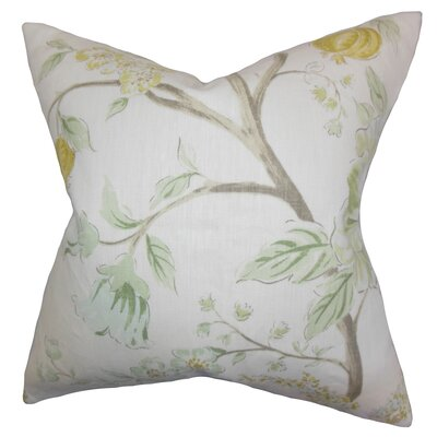 Ivria Floral Linen Throw Pillow Color: Meadow, Size: 22 x 22