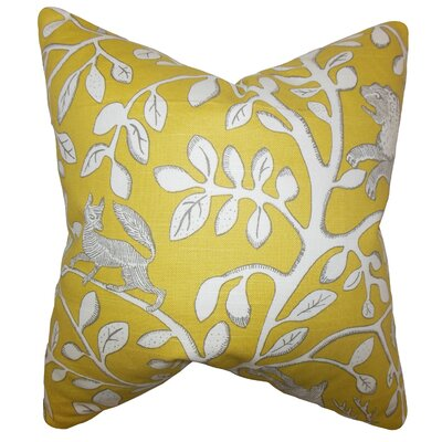 Honorine Floral Cotton Throw Pillow Cover
