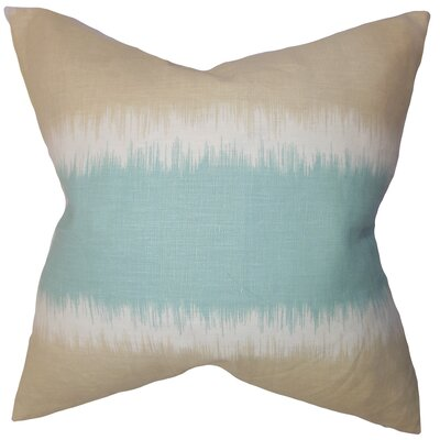 Juba Geometric Linen Throw Pillow Color: Beach, Size: 22 x 22