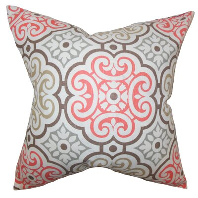 Nascha Geometric Cotton Throw Pillow Color: Bitter Sweet, Size: 18 x 18