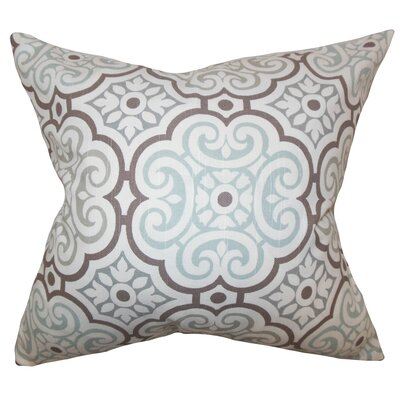 Nascha Geometric Cotton Throw Pillow Color: Snowy, Size: 18 x 18