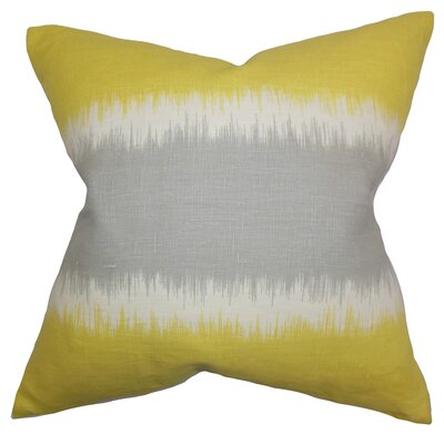 Juba Geometric Linen Throw Pillow Color: Olive, Size: 18 x 18