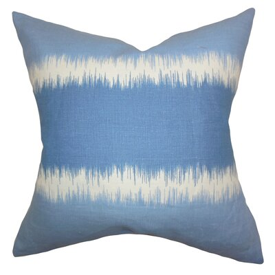 Juba Geometric Linen Throw Pillow Color: Blue, Size: 18 x 18