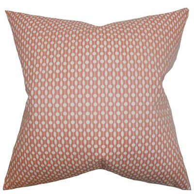 Orit Geometric Cotton Throw Pillow Color: Red, Size: 18 x 18