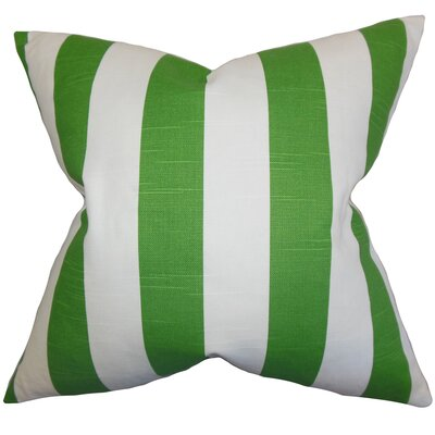 Acantha 100% Cotton Throw Pillow Color: Green, Size: 18 x 18