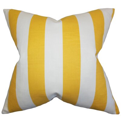 Acantha 100% Cotton Throw Pillow Color: Yellow, Size: 18 x 18