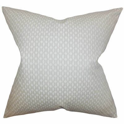 Orit Geometric Cotton Throw Pillow Color: Oyster, Size: 24 x 24