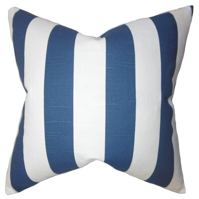 Acantha 100% Cotton Throw Pillow Color: Blue, Size: 18 x 18