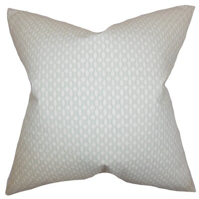 Orit Geometric Cotton Throw Pillow Color: Gray, Size: 22 x 22